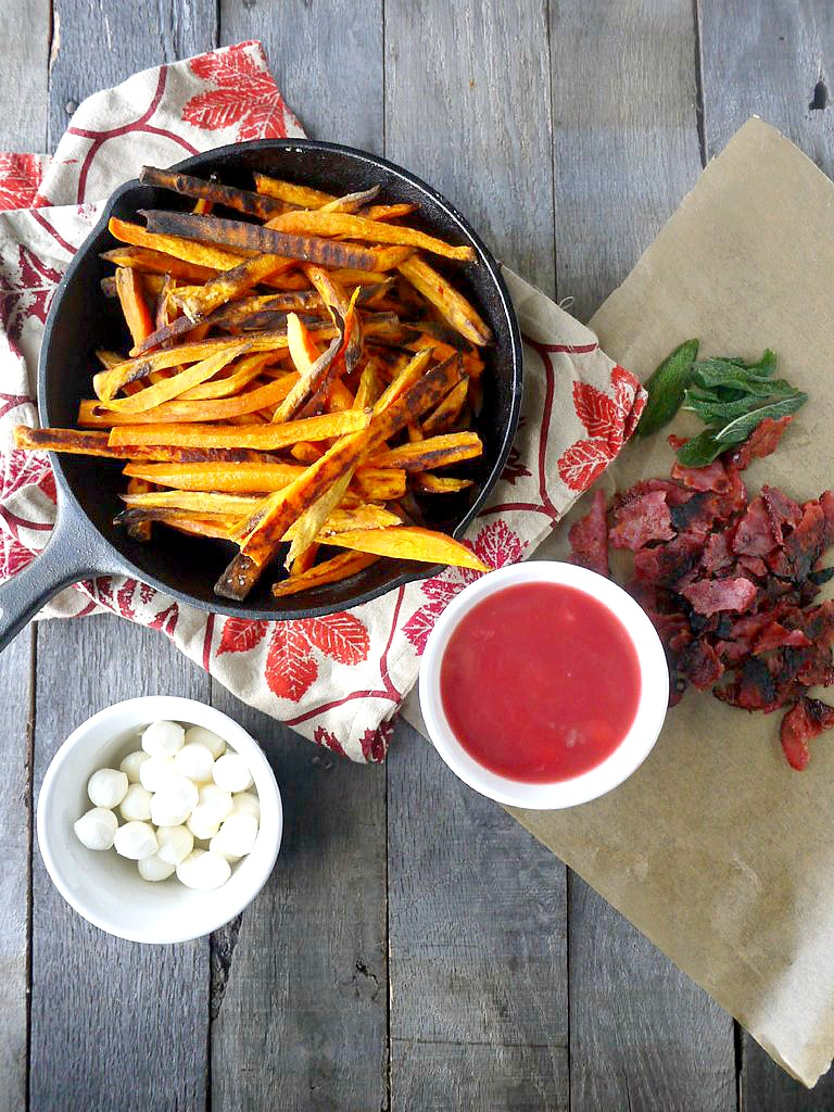 sweet potato poutine with cranberry gravy 1 adjusted