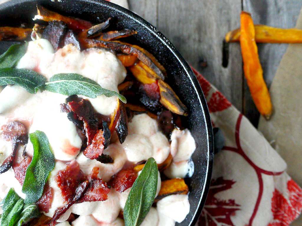 sweet potato poutine with cranberry gravy 9 adjusted