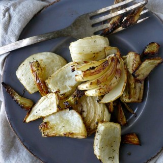 Balsamic and Thyme Roasted Fennel