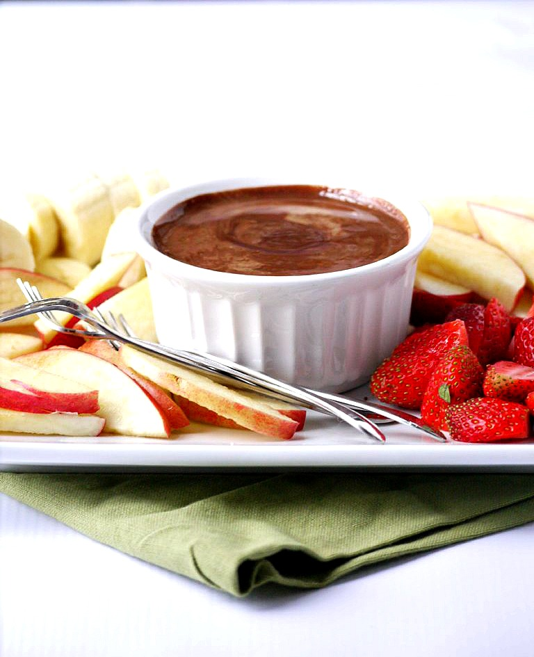 two-ingredient chocolate almond butter fruit fondue 5 adjusted