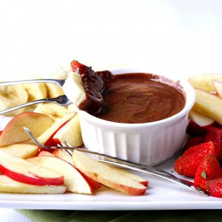 Two-Ingredient Almond Butter Dark Chocolate Fruit Fondue + Ninja Supra Kitchen System Giveaway