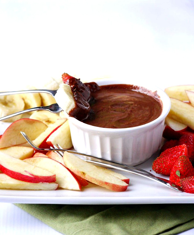 two-ingredient chocolate almond butter fruit fondue 7 adjusted