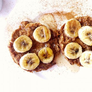 Cinnamon Raisin French Toast Muffins with Bananas