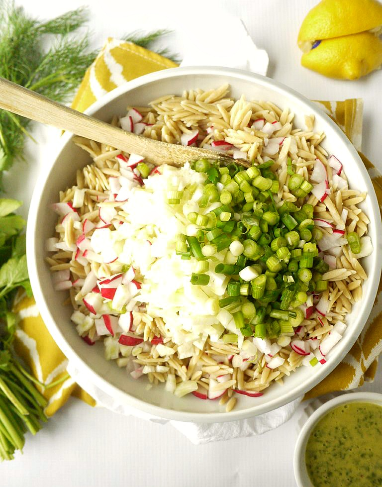 Radish and Fennel Orzo Salad with Parsley Vinaigrette 1
