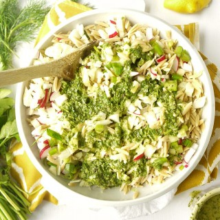 Radish and Fennel Orzo Salad with Parsley-Lemon Vinaigrette