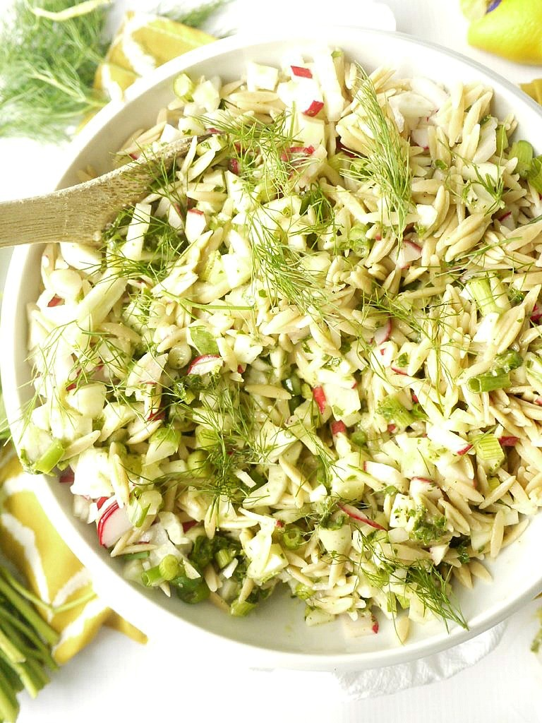 Radish and Fennel Orzo Salad with Parsley Vinaigrette 5 version 2
