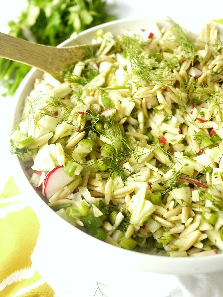 Radish and Fennel Orzo Salad with Parsley Vinaigrette 6