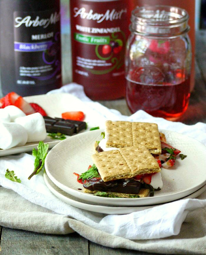 strawberry mint dark chocolate smores 10