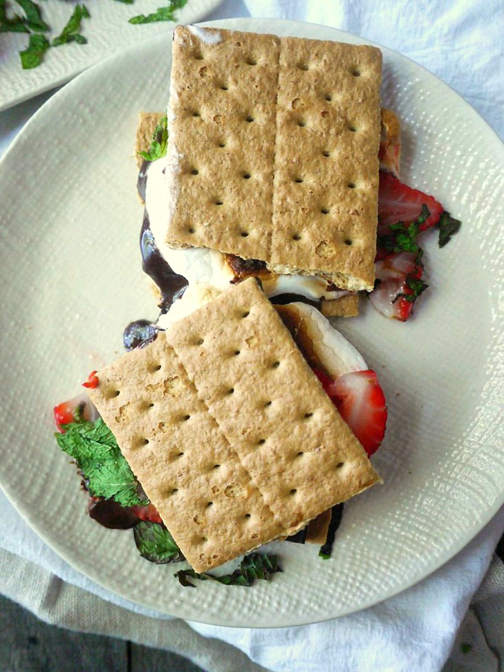 strawberry mint dark chocolate smores 12