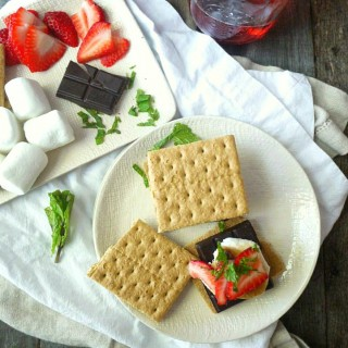 Strawberry, Mint and Dark Chocolate S'mores