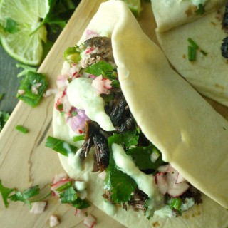 Beer-Braised Lamb Tacos with Chive Tzatziki and Radish Salsa