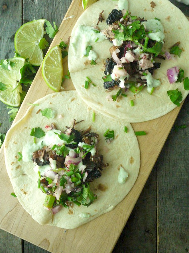 beer braised lamb tacos with chive tzatziki 9