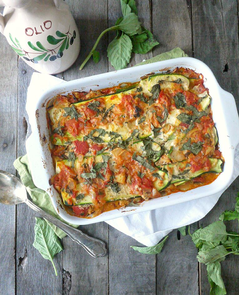 paleo noodleless zucchini lasagna with basil cashew cheese 3