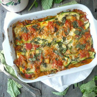 Paleo (and Vegan) Zucchini Lasagna with Basil-Cashew Cheese Sauce