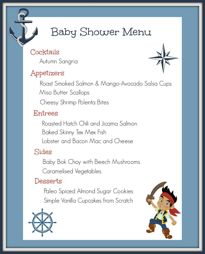 Menu baby shower(f)