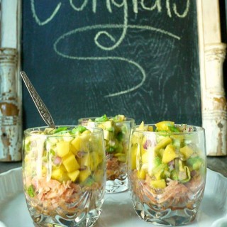 Roast Smoked Salmon & Mango-Avocado Salsa Cups + 11 Amazing Recipes for Your Next Baby Shower