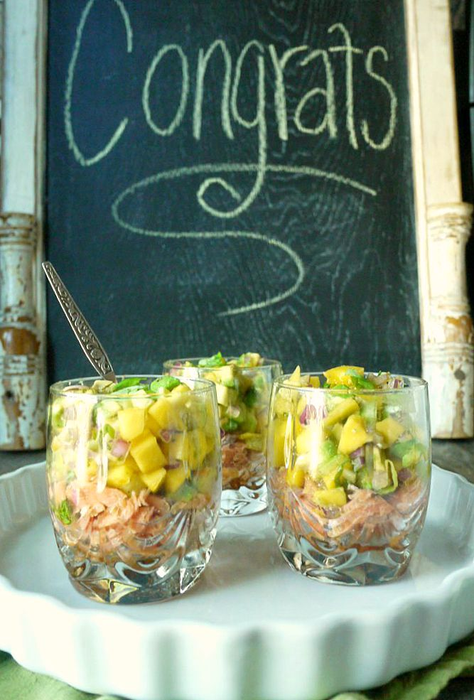 roast smoked salmon and mango-avocado salsa cups 1
