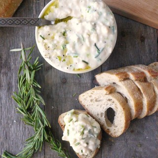 Creamy Yogurt, White Bean and Scallion Dip